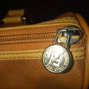 Fendi Bags - Fendi Vintage Small Leather Trim Handbag